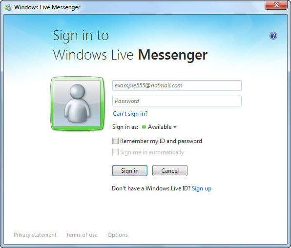 Alterar o idioma do Windows Live Messenger 2011