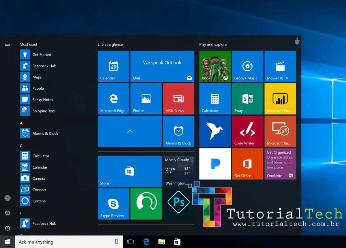 [RESOLVIDO] Problemas e erros no Menu Iniciar do Windows 10